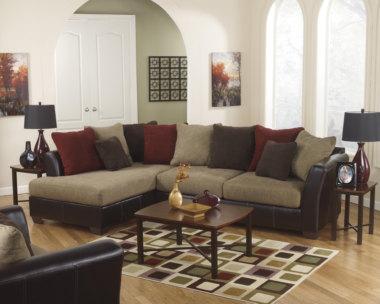 Ashley Furniture Sanya - Mocha Stationary Living Room Group - Item Number: 28400 Living Room Group 7