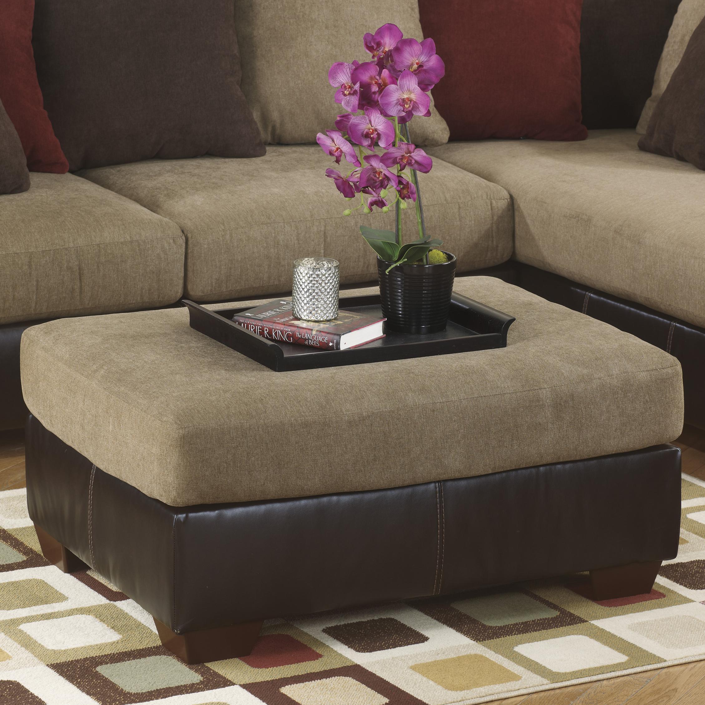 Ashley Furniture Sanya - Mocha Oversized Accent Ottoman - Item Number: 2840008