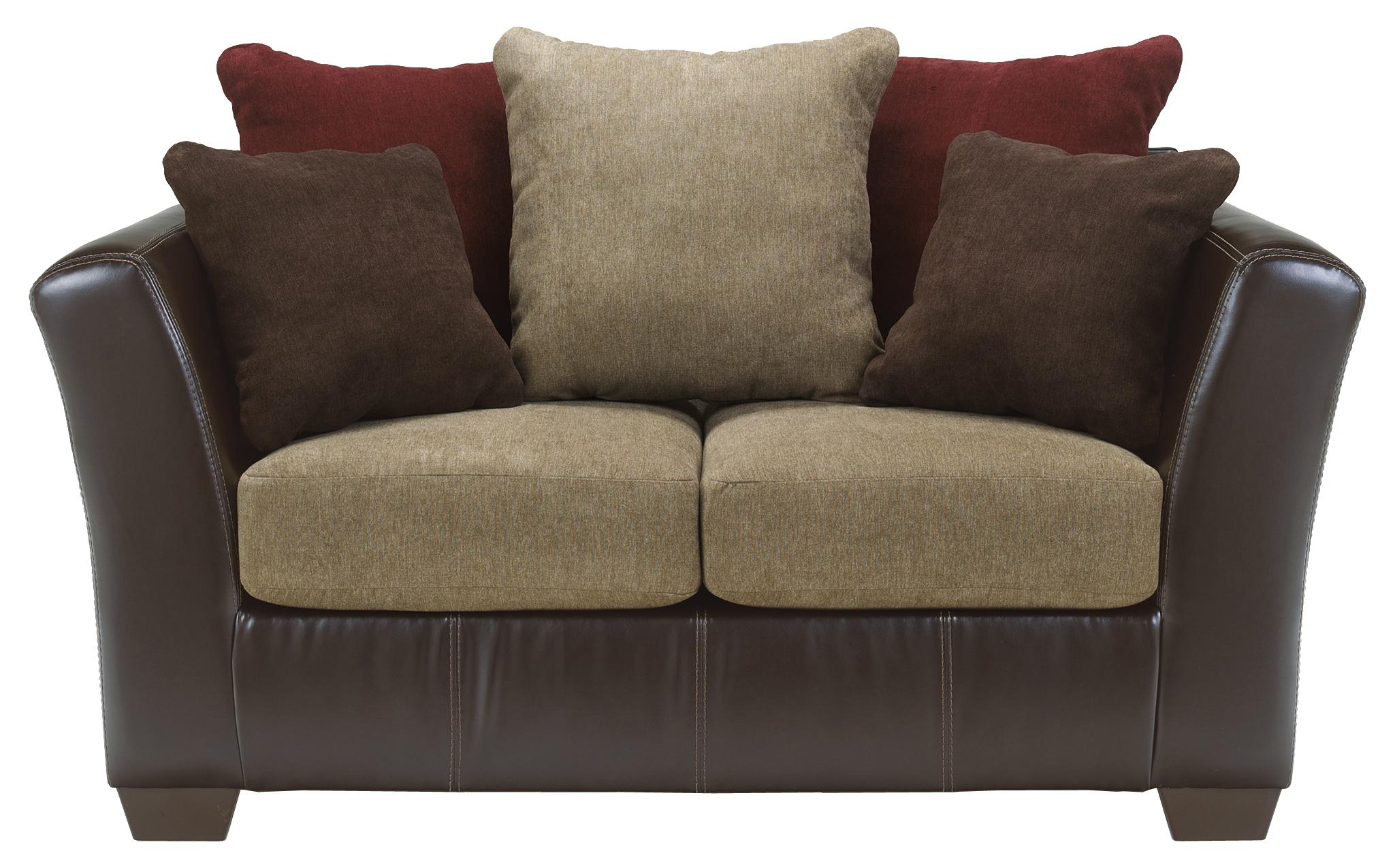 Ashley Furniture Sanya - Mocha Loveseat - Item Number: 2840035