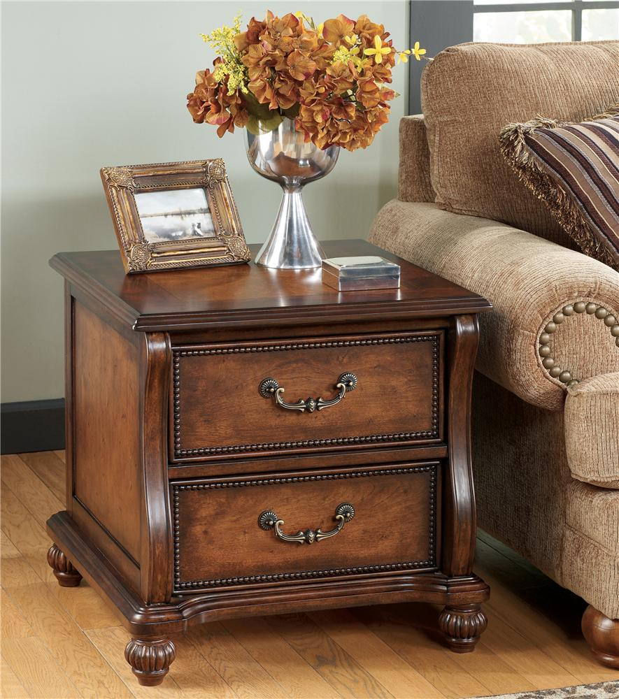 Lovely Signature Design By Ashley Shelton Traditional Rectangular End Table   AHFA    Occasional Cabinet Dealer Locator