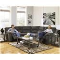 Ashley Furniture Tambor Two Piece Reclining Sectional - Item Number: 2780148+2780149
