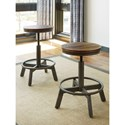Signature Design by Ashley Torjin Rustic Stool with Adjustable Height