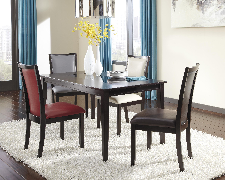 Ashley Furniture Trishelle 5-Piece Rectangular Dining Table Set - Item Number: D550-25+02+03+04+05