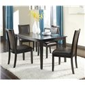 Ashley Furniture Trishelle 5-Piece Rectangular Dining Table Set - Item Number: D550-25+4x02