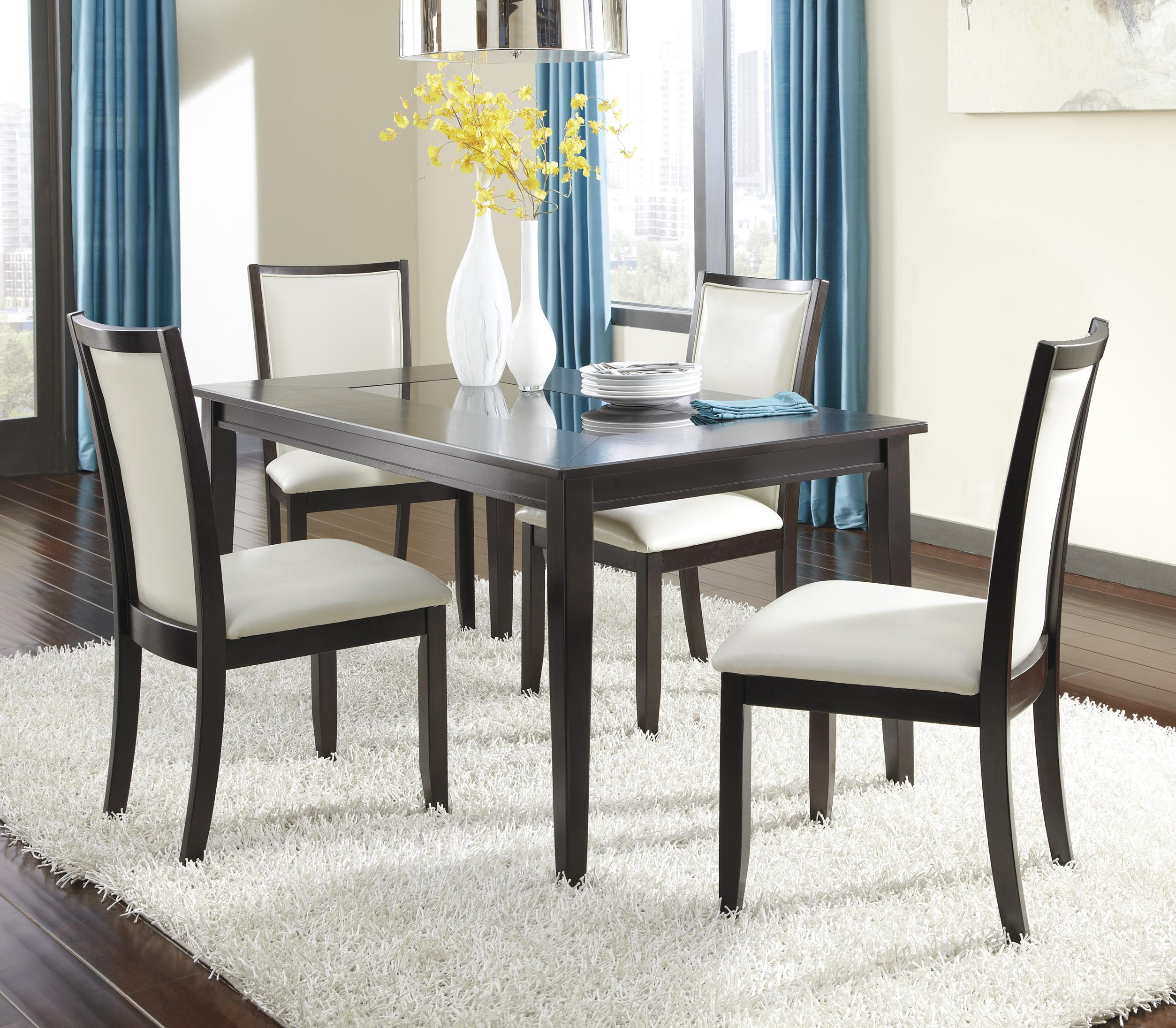 Ashley Furniture Trishelle 5-Piece Rectangular Dining Table Set - Item Number: D550-25+4x03