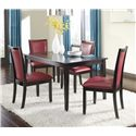 Ashley Furniture Trishelle 5-Piece Rectangular Dining Table Set - Item Number: D550-25+4x04