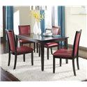 Ashley Furniture Trishelle 5-Piece Rectangular Dining Table Set - Item Number: D550-25+4x04