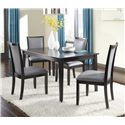 Ashley Furniture Trishelle 5-Piece Rectangular Dining Table Set - Item Number: D550-25+4x05