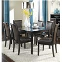 Ashley Furniture Trishelle 7-Piece Rectangular Dining Table Set - Item Number: D550-25+6x02