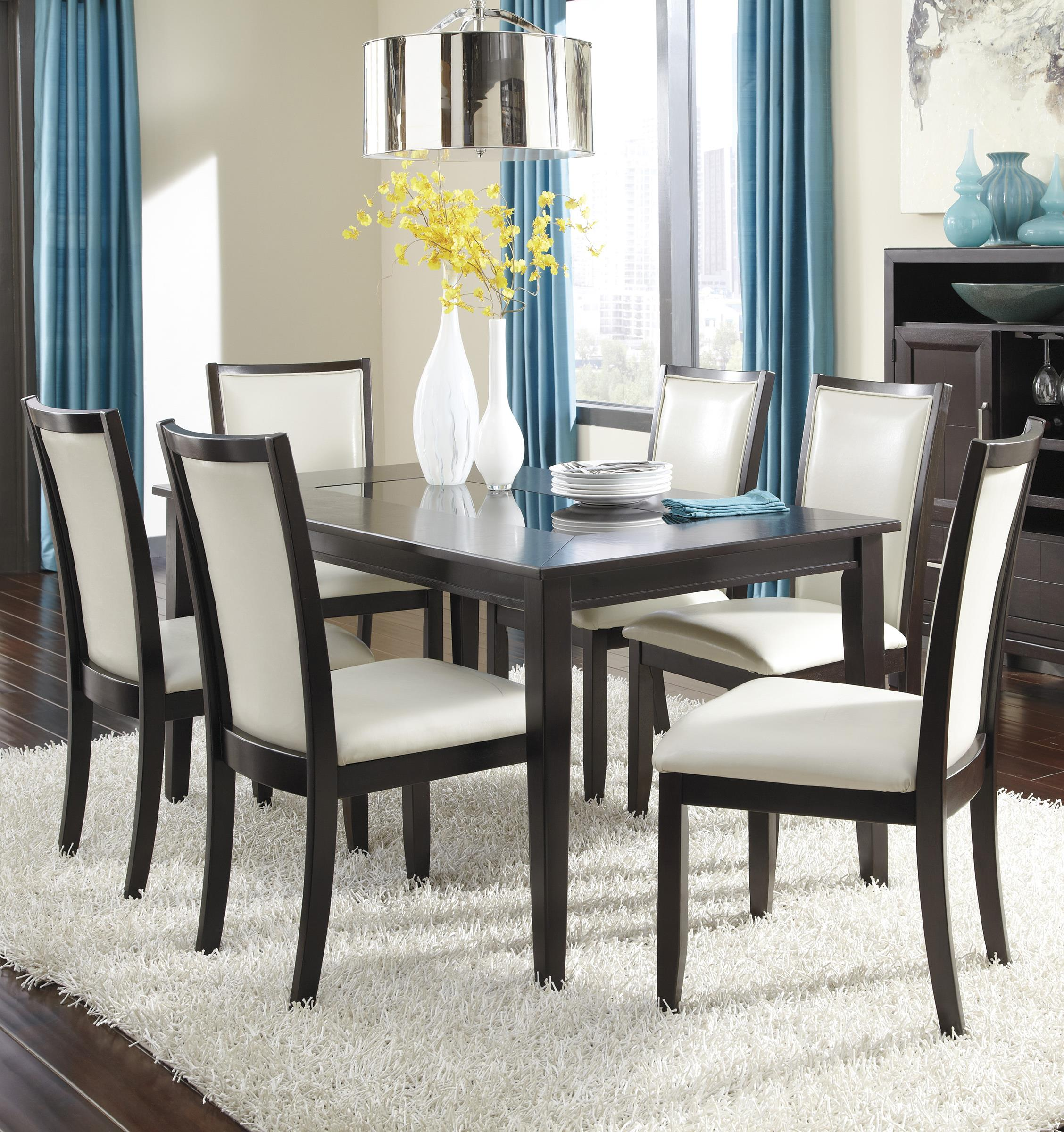 Ashley Furniture Trishelle 7-Piece Rectangular Dining Table Set - Item Number: D550-25+6x03