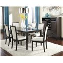Ashley Furniture Trishelle 7-Piece Rectangular Dining Table Set with Ivory Chairs