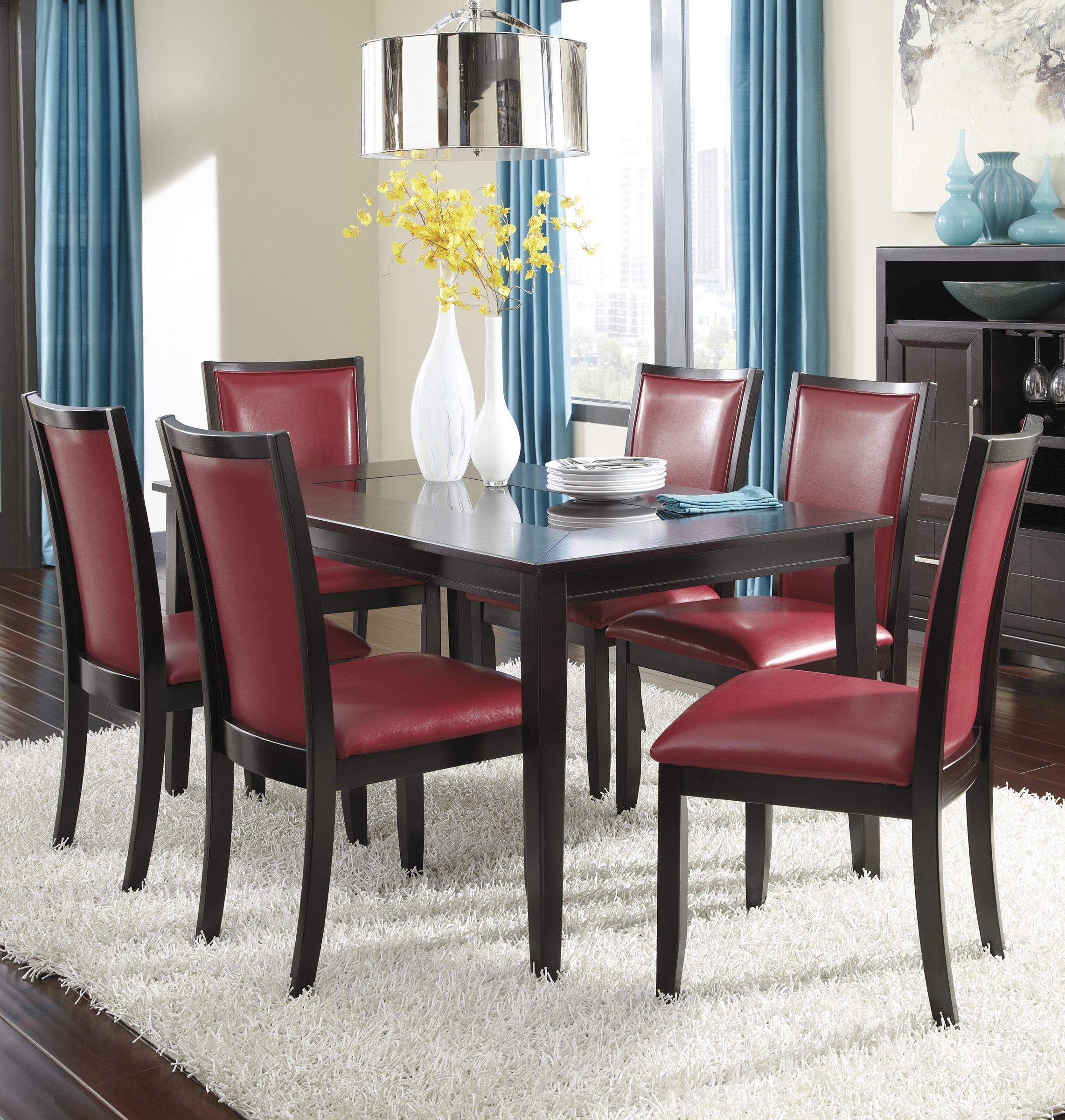 Ashley Furniture Trishelle 7-Piece Rectangular Dining Table Set - Item Number: D550-25+6x04