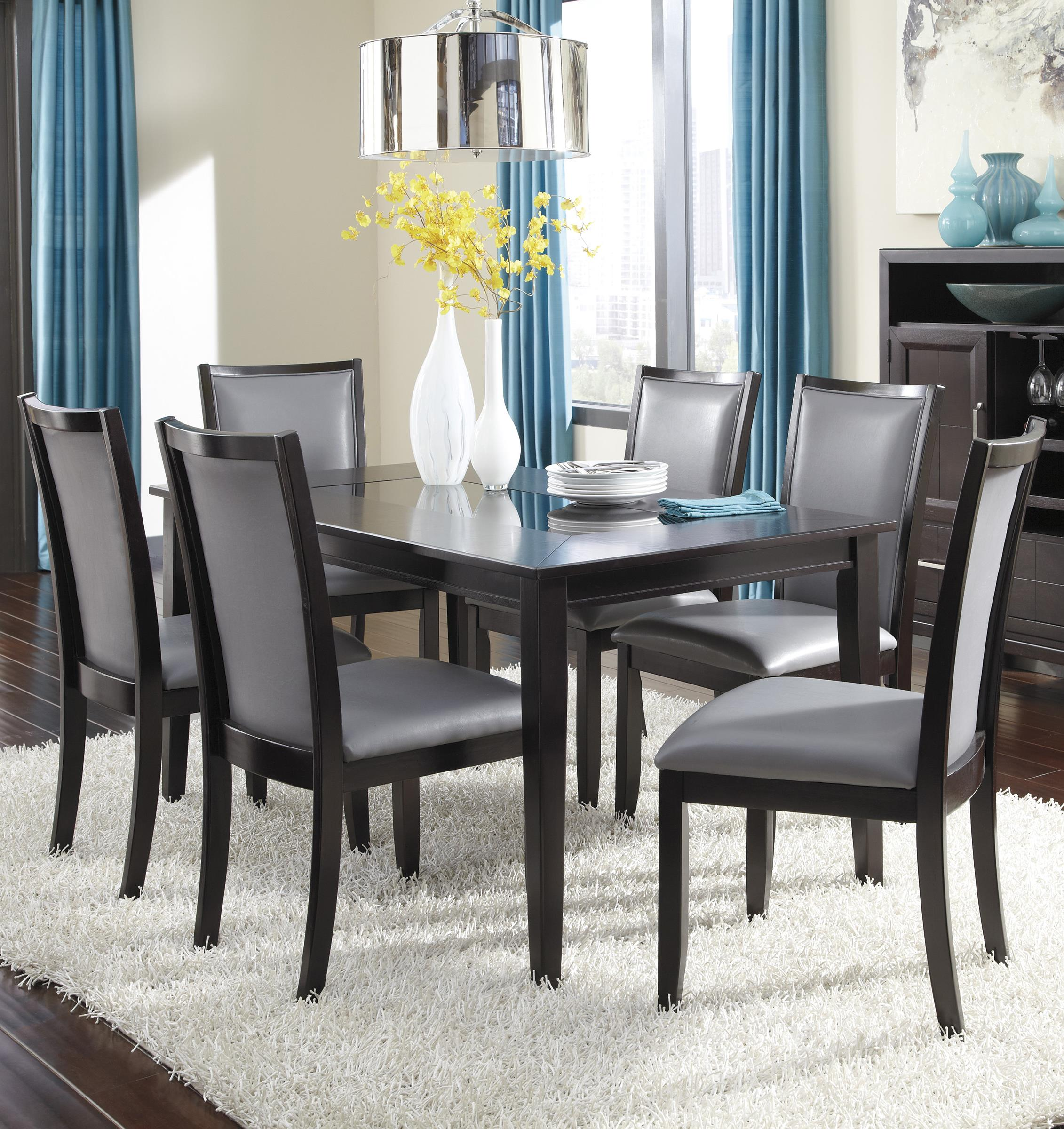 Ashley Furniture Trishelle 7-Piece Rectangular Dining Table Set - Item Number: D550-25+6x05