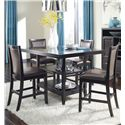 Ashley Furniture Trishelle 5-Piece Counter Table Set - Item Number: D550-32+4x224