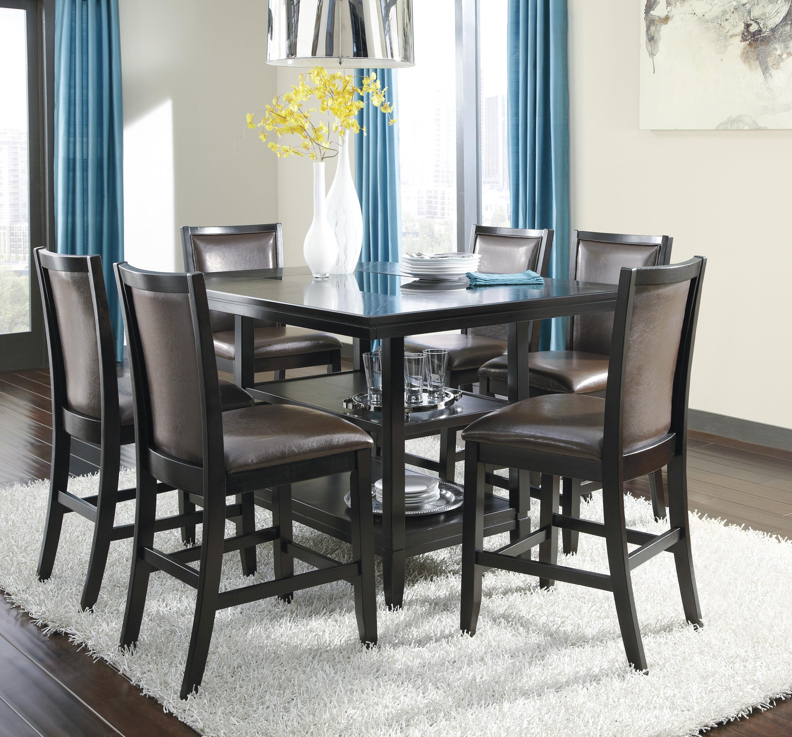 Ashley Furniture Trishelle 7-Piece Counter Table Set - Item Number: D550-32+6x224