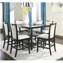 Ashley Furniture Trishelle 7-Piece Counter Table Set - Item Number: D550-32+6x324