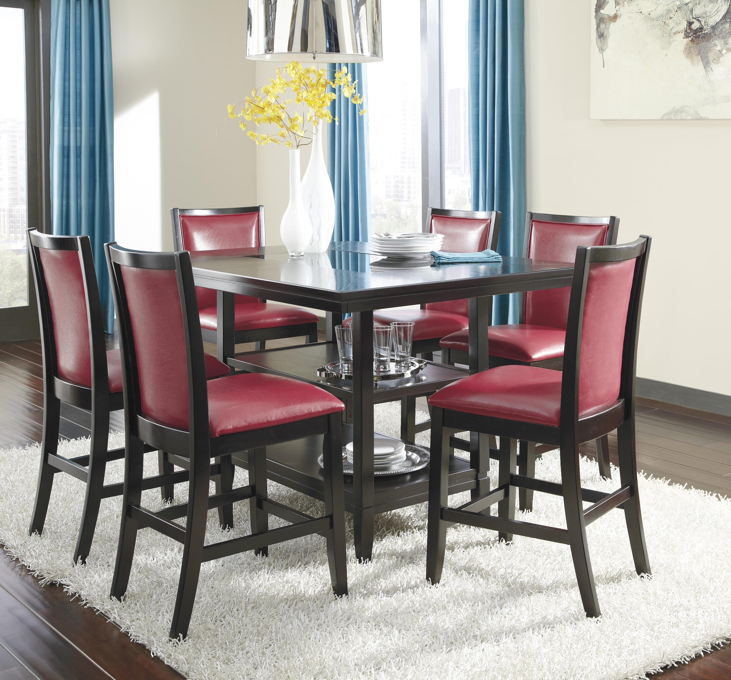 Ashley Furniture Trishelle 7-Piece Counter Table Set - Item Number: D550-32+6x424