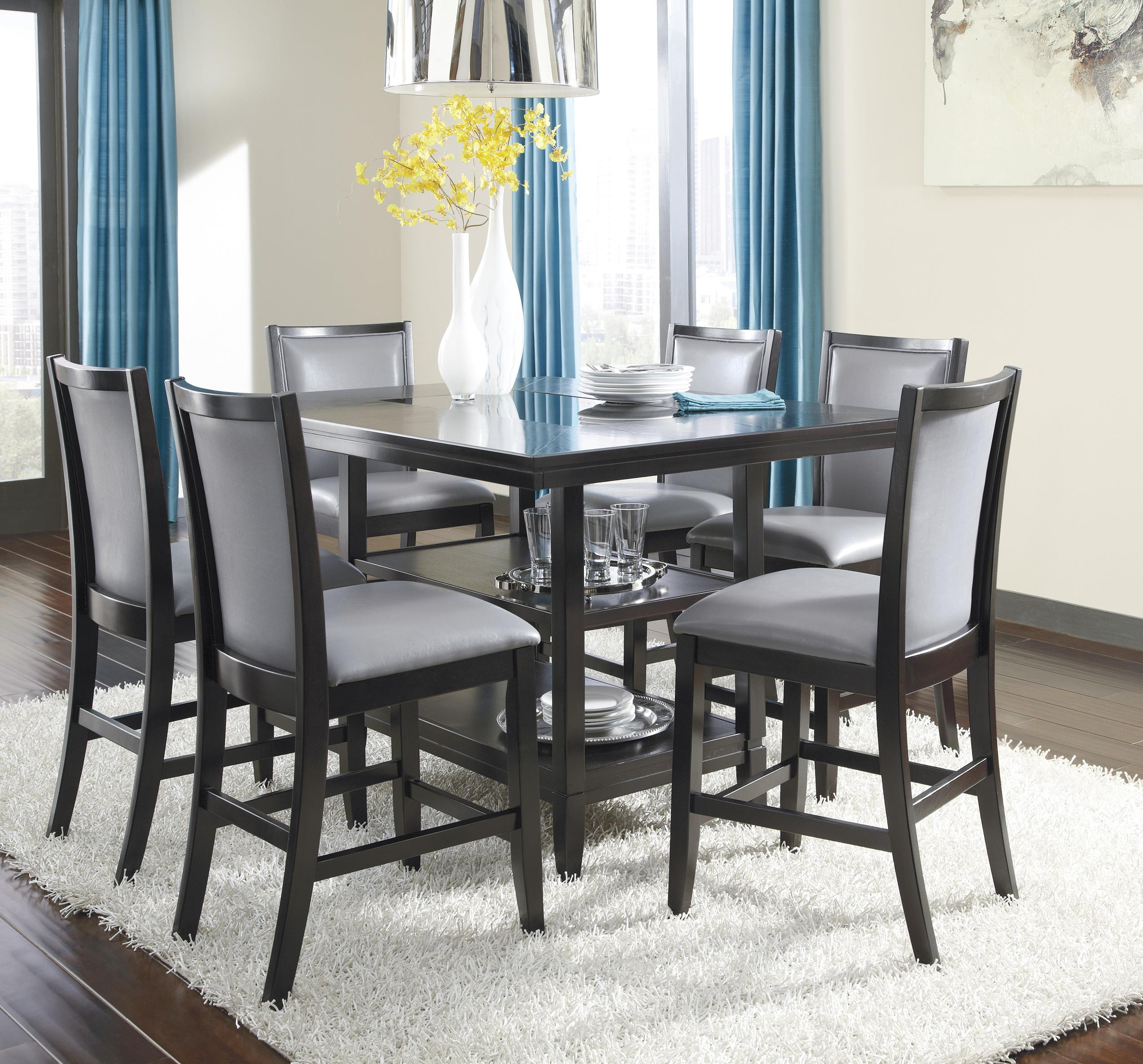 Ashley Furniture Trishelle 7-Piece Counter Table Set - Item Number: D550-32+6x524