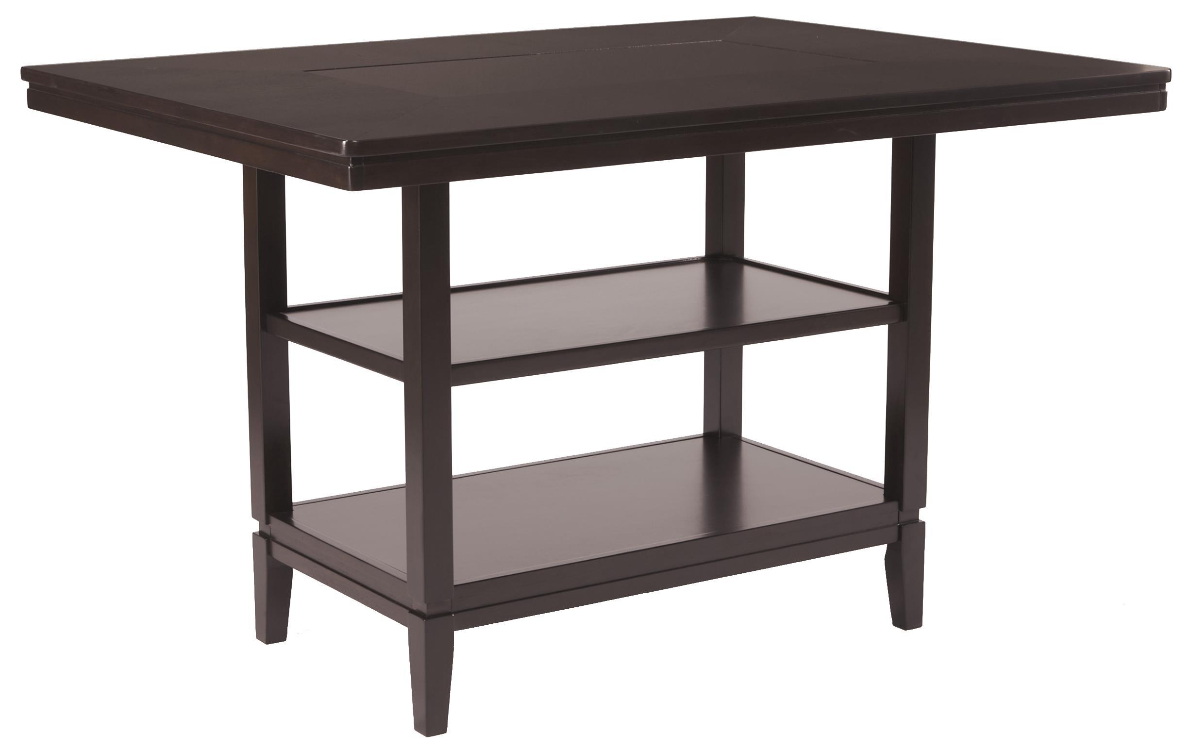 Ashley Furniture Trishelle Rectangular Dining Room Counter Table - Item Number: D550-32