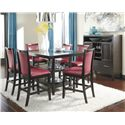 Ashley Furniture Trishelle Red Faux Leather Upholstered Barstool