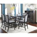 Ashley Furniture Trishelle Gray Faux Leather Upholstered Barstool