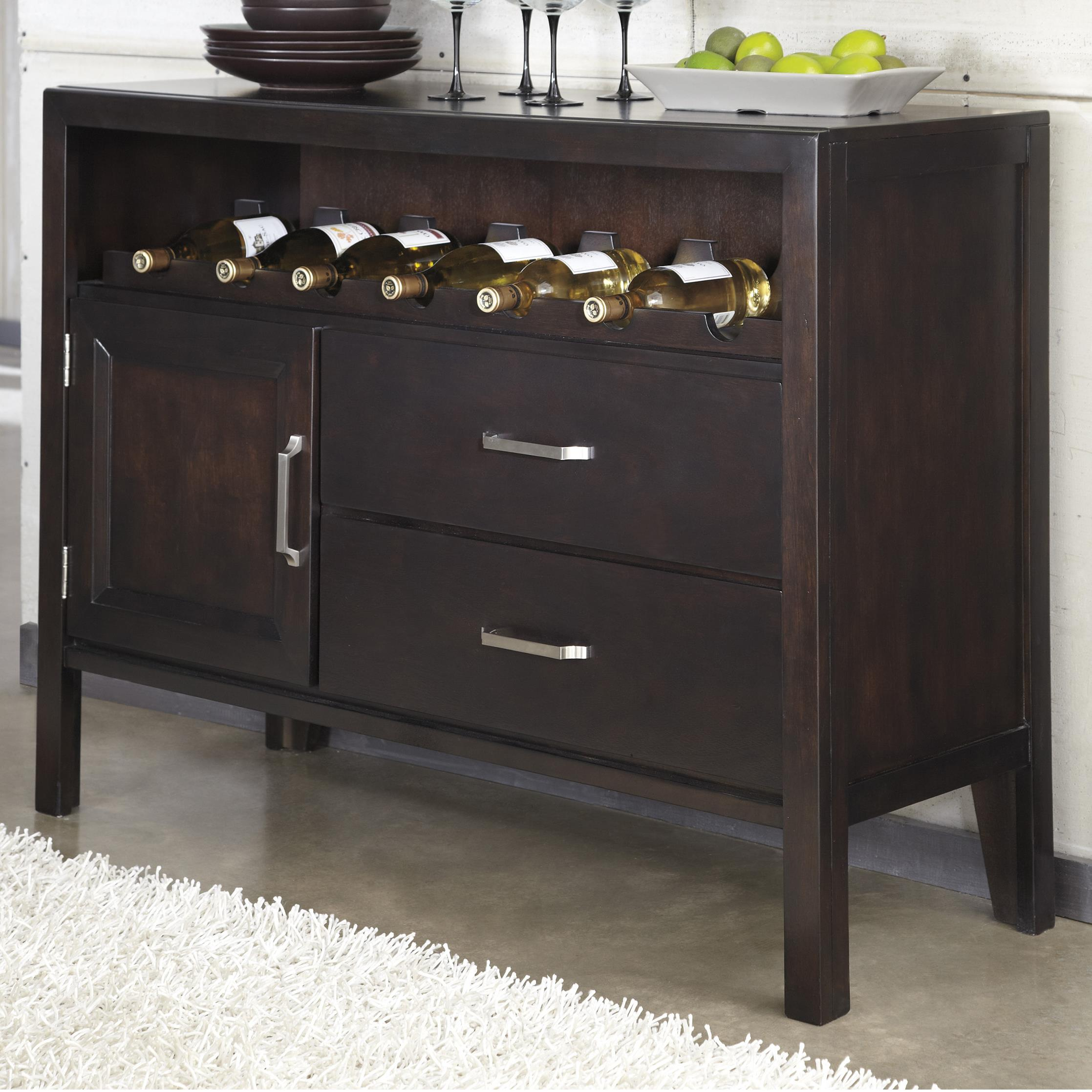 ashley furniture trishelle contemporary dining room server with