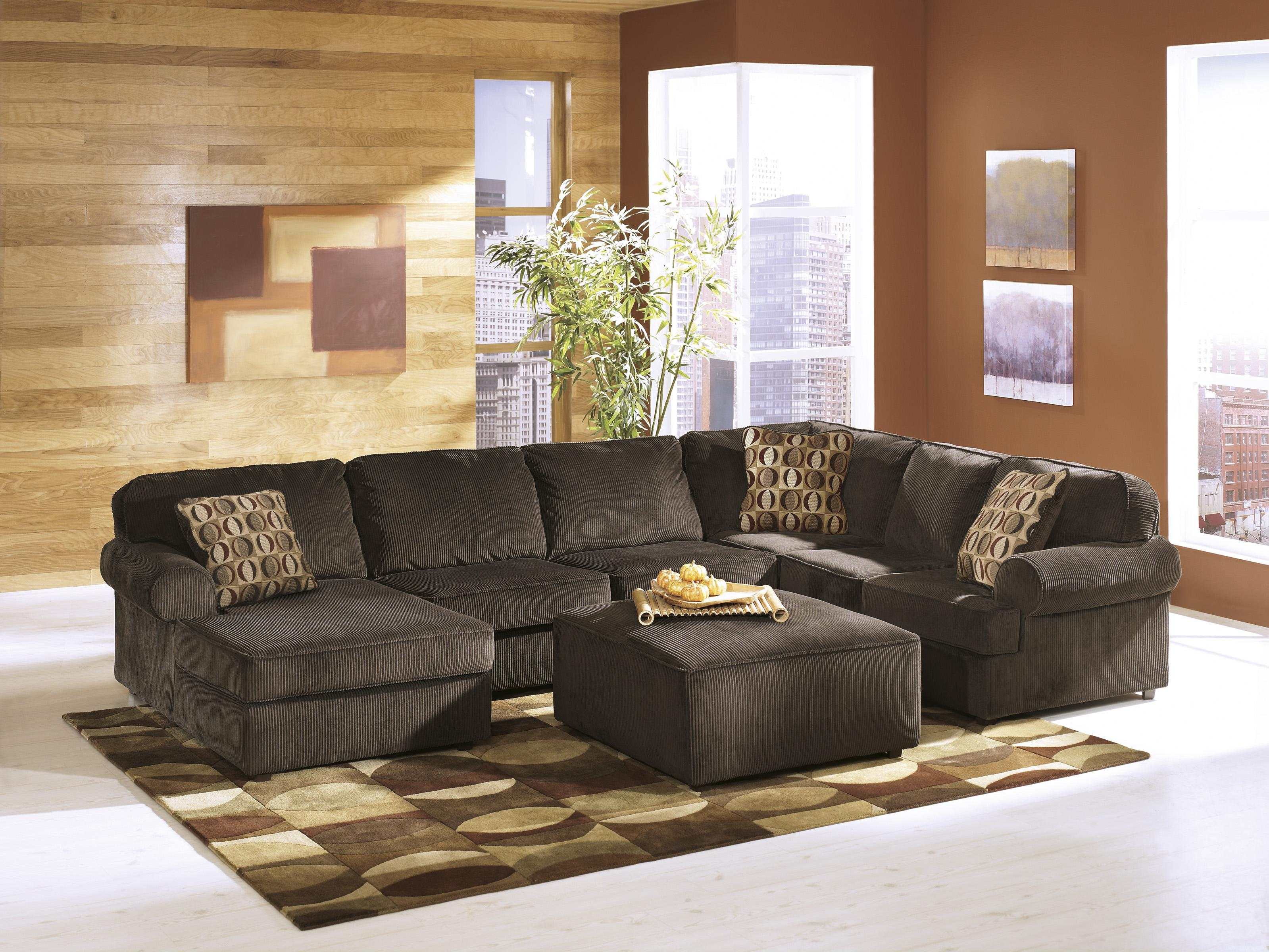 Ashley Furniture Vista - Chocolate Stationary Living Room Group - Item Number: 68404 Living Room Group 1