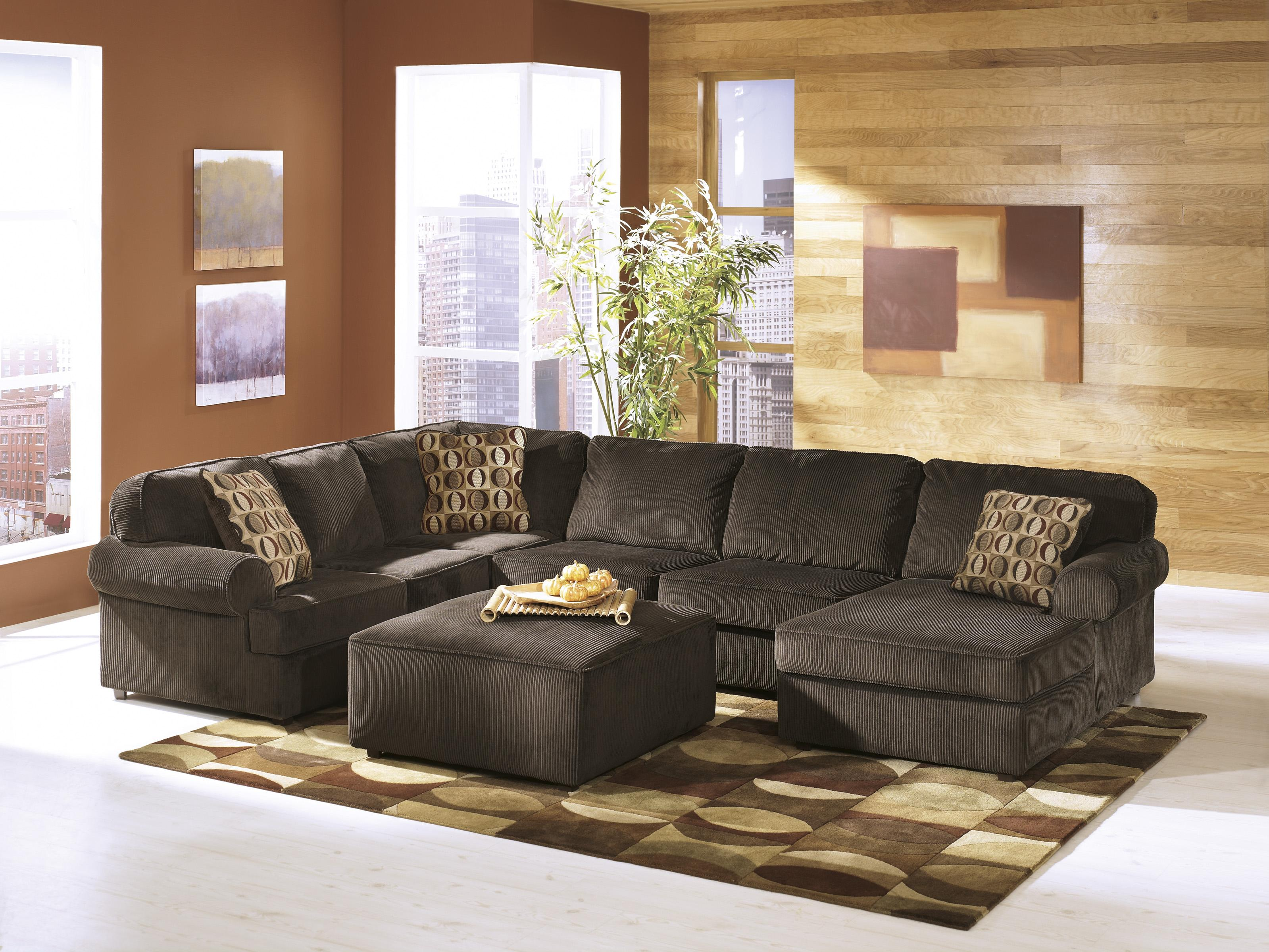 Ashley Furniture Vista - Chocolate Stationary Living Room Group - Item Number: 68404 Living Room Group 2