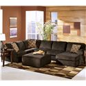 Ashley furniture vista chocolate casual 3 piece for Interieur chic haiti