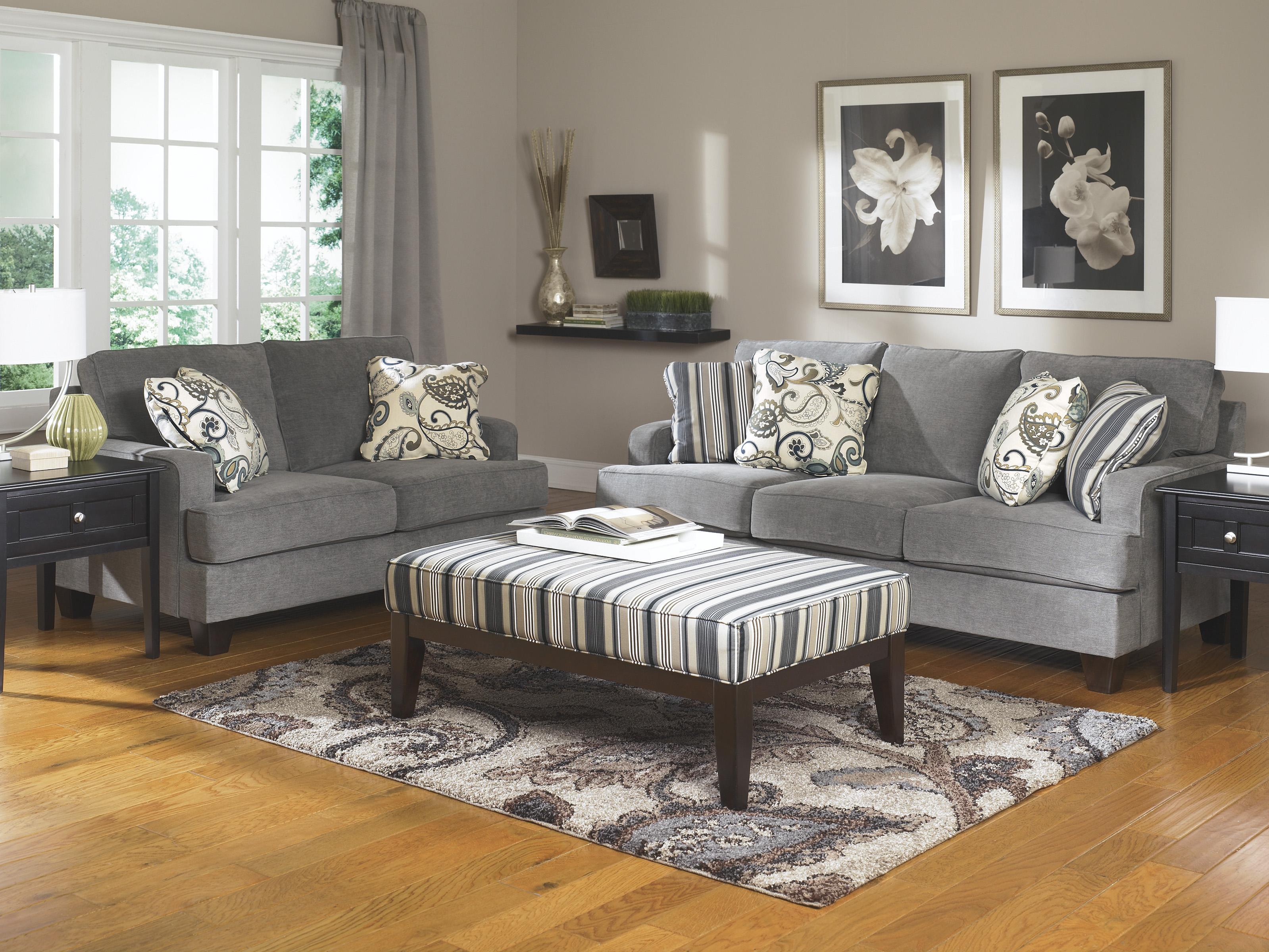 Ashley Furniture Yvette - Steel Stationary Living Room Group - Item Number: 77900 Living Room Group 2