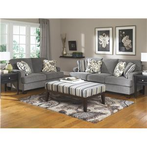 Ashley Furniture Yvette - Steel Stationary Living Room Group