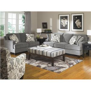 Ashley Living Room Furniture yvette - steel (77900)ashley furniture - john v schultz