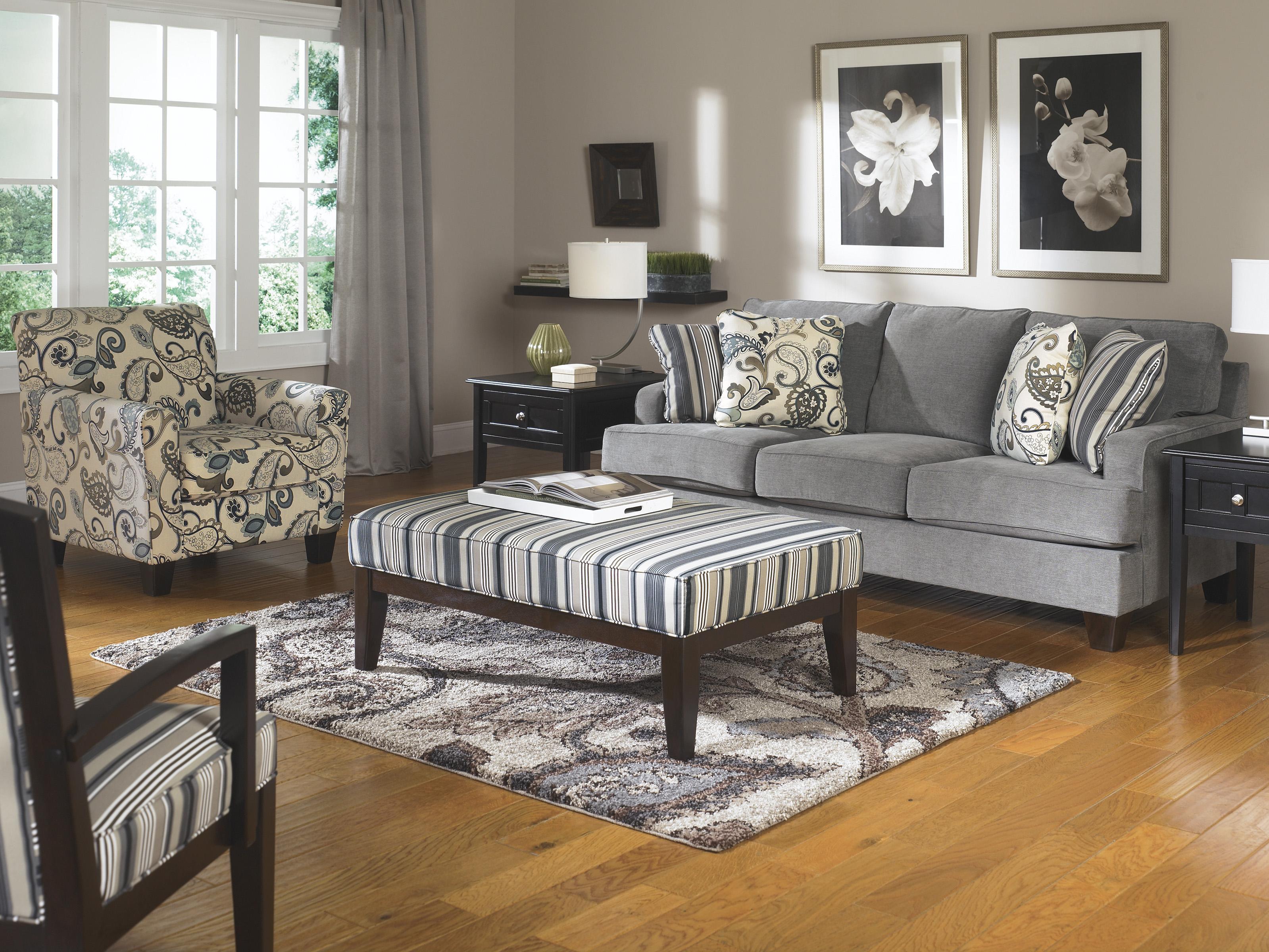 Ashley Furniture Yvette - Steel Stationary Living Room Group - Item Number: 77900 Living Room Group 4