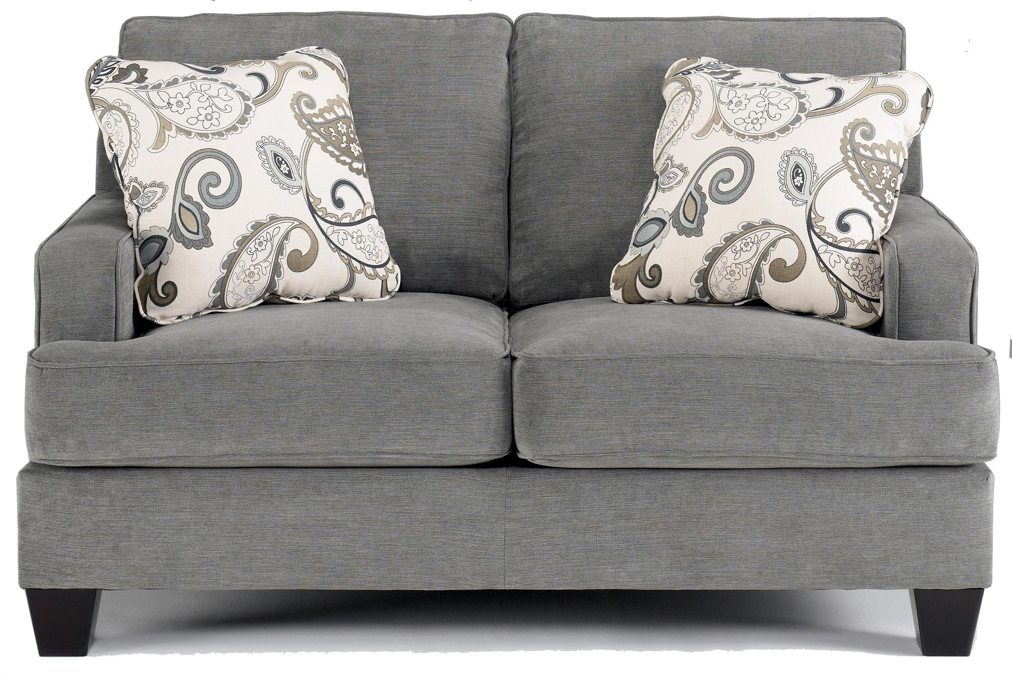 Ashley Furniture Yvette Steel Love Seat w Loose Seat Cushions