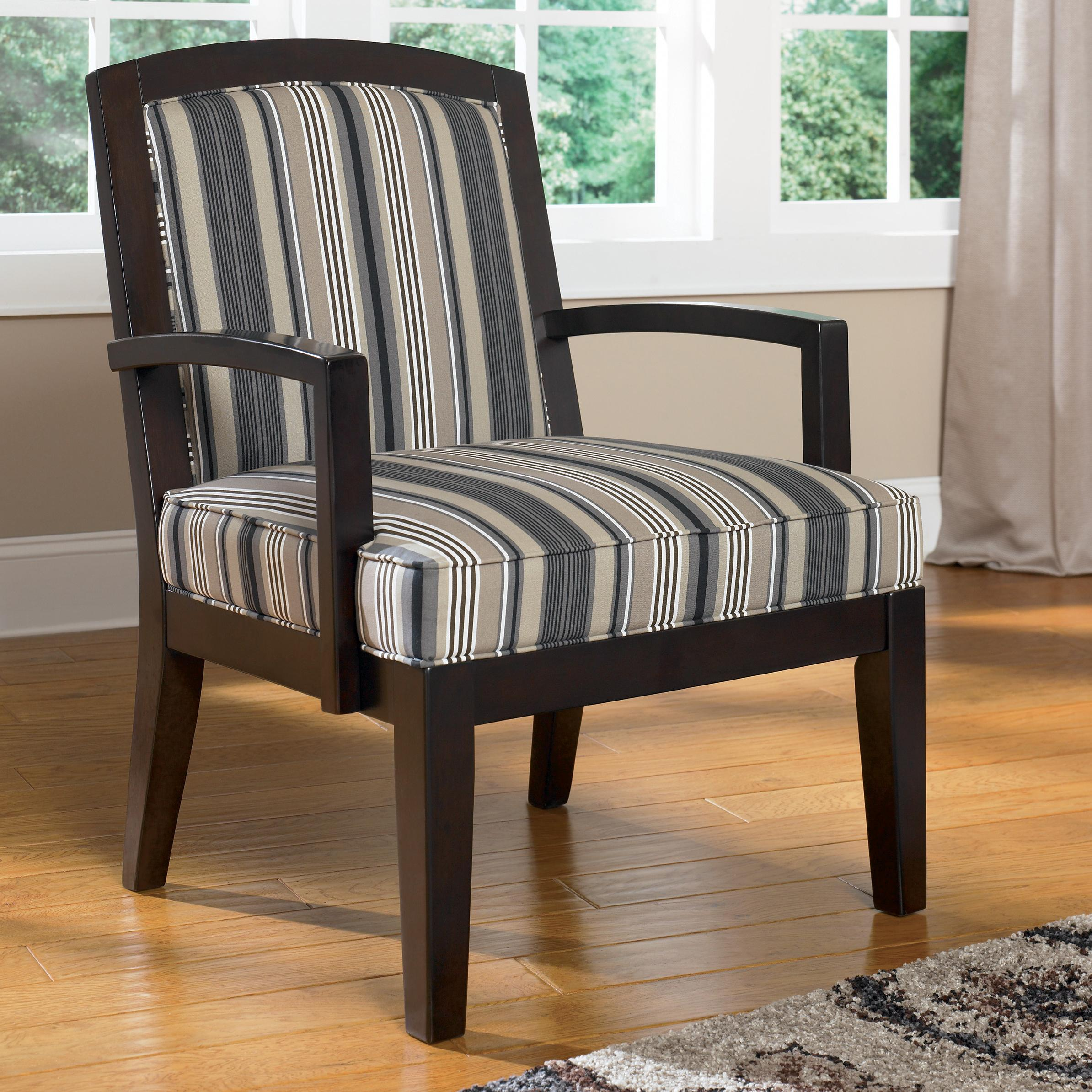 Ashley Furniture Yvette - Steel Showood Accent Chair w/ Wood Frame - AHFA - Exposed Wood Chair Dealer Locator & Ashley Furniture Yvette - Steel Showood Accent Chair w/ Wood Frame ...