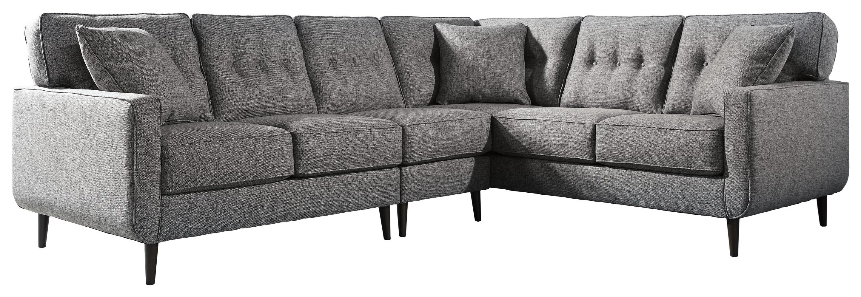 3PC Sectional and Accent Chair Set