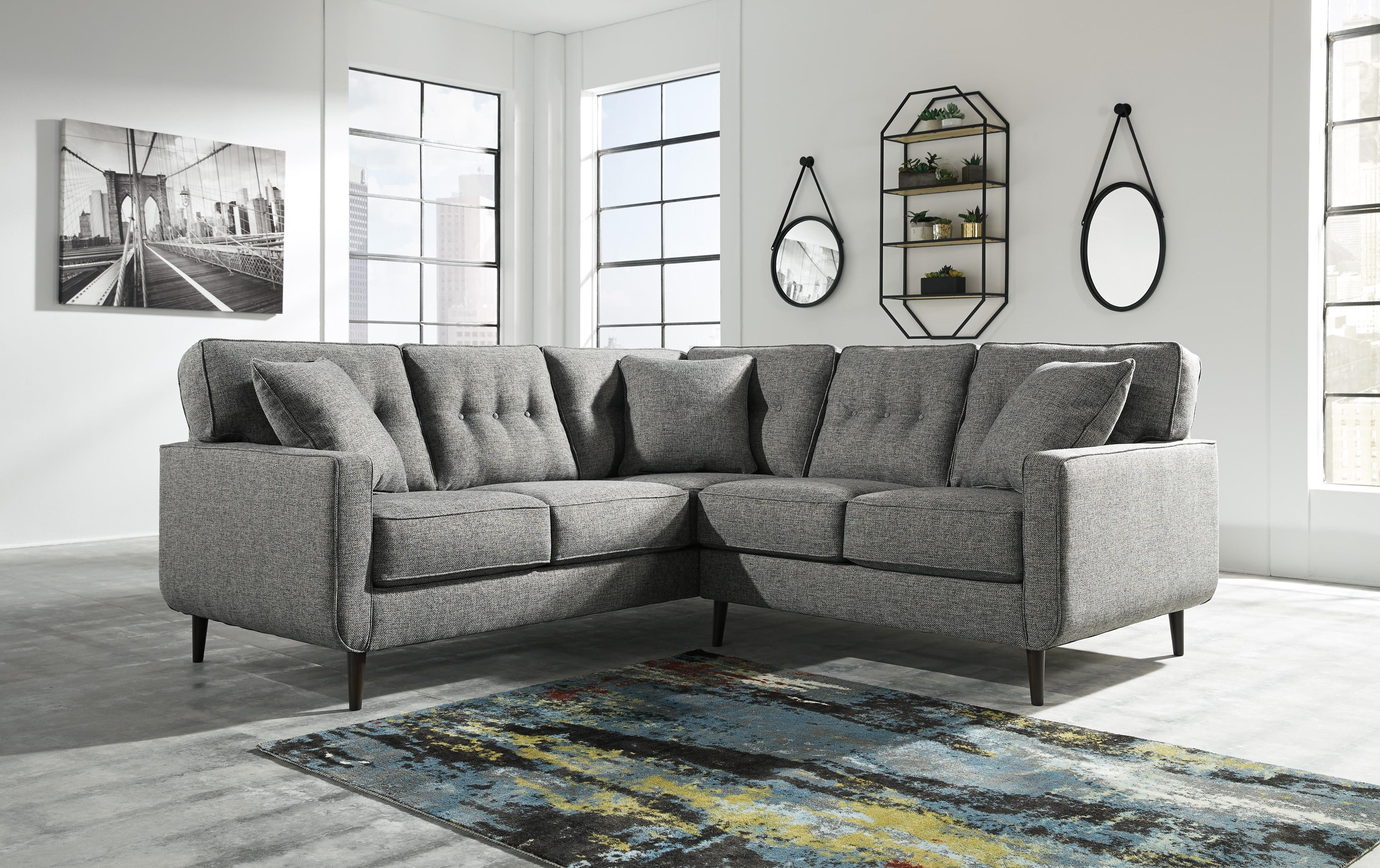 2 Piece Left Arm Facing Sectional with Accen