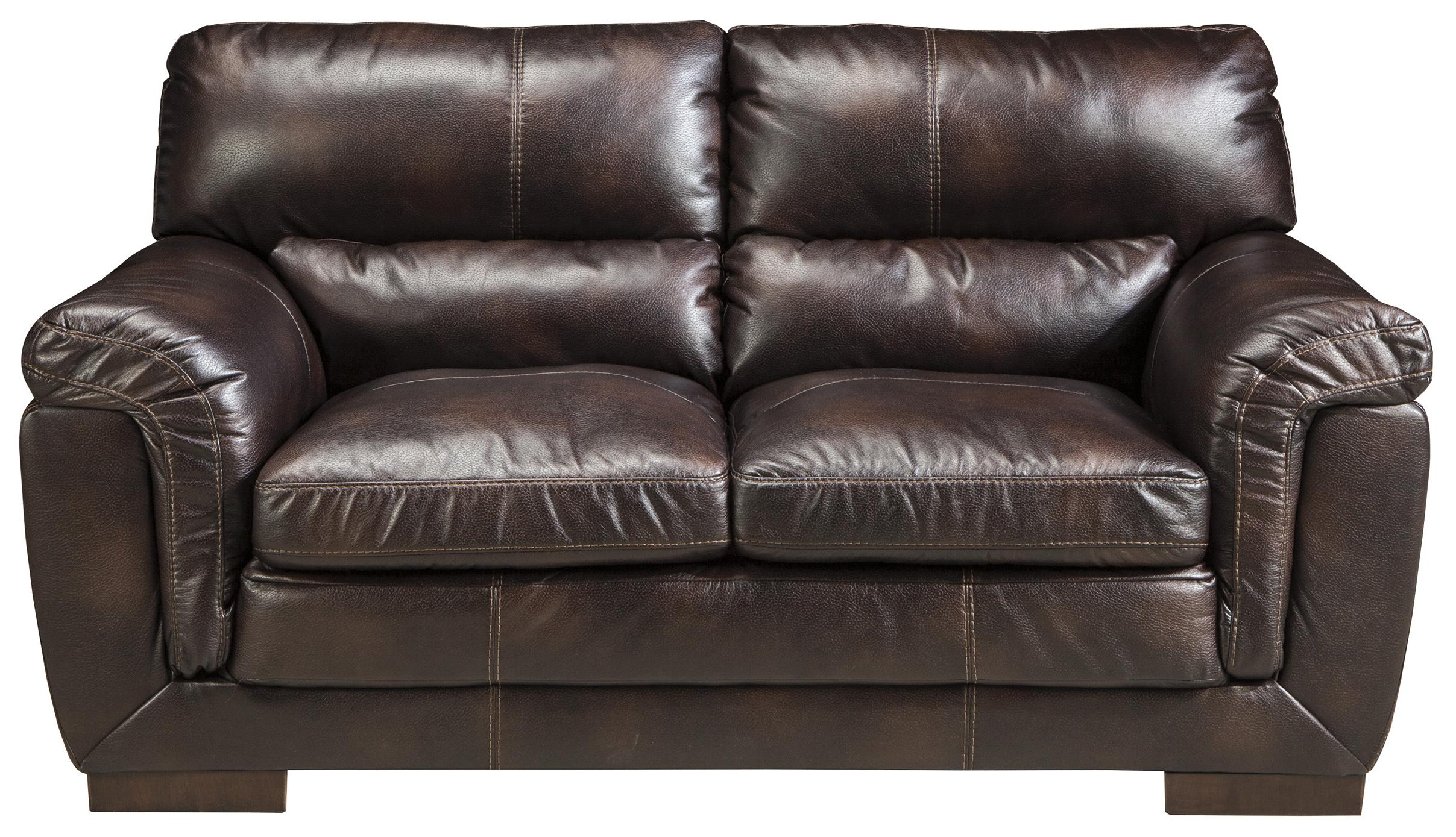 Zelladore   Canyon Contemporary Faux Leather Loveseat By Ashley Furniture