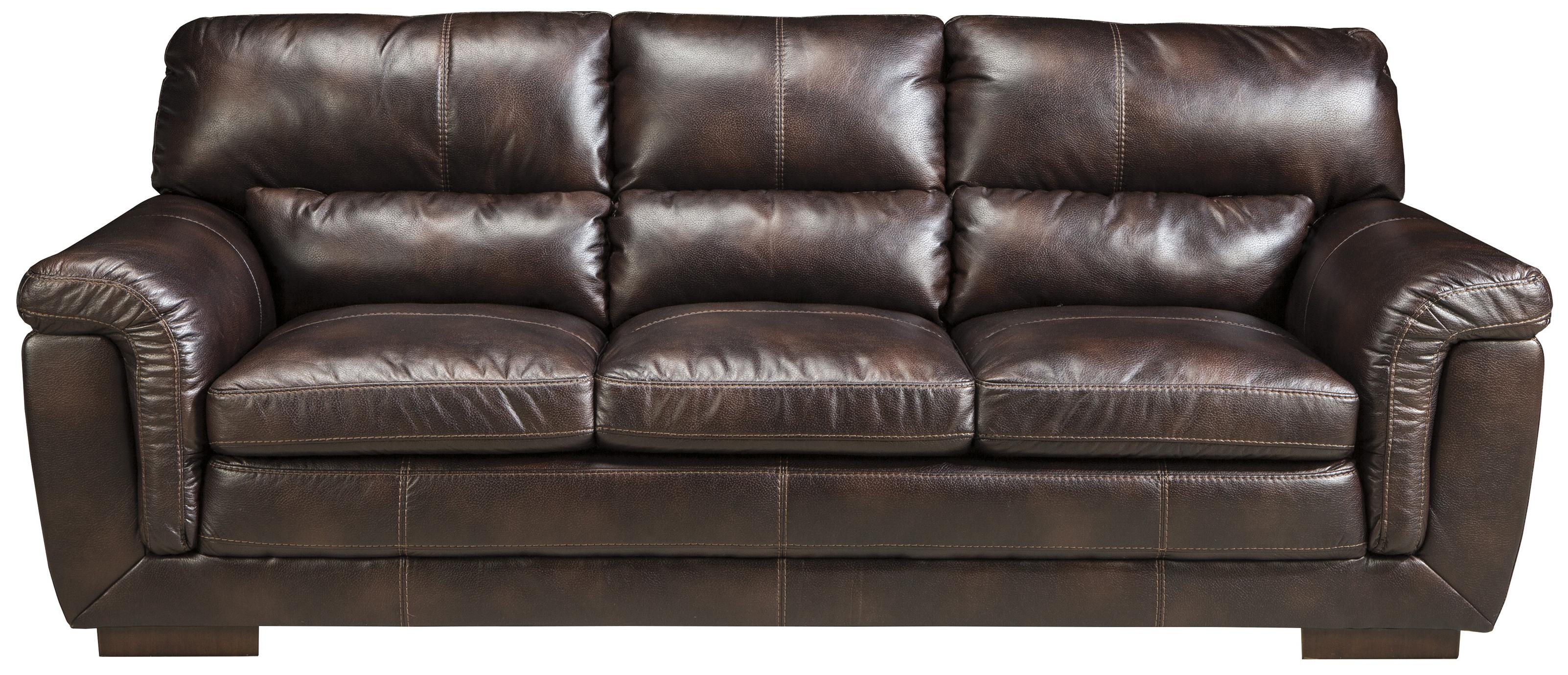zelladore canyon faux leather sofa by ashley furniture