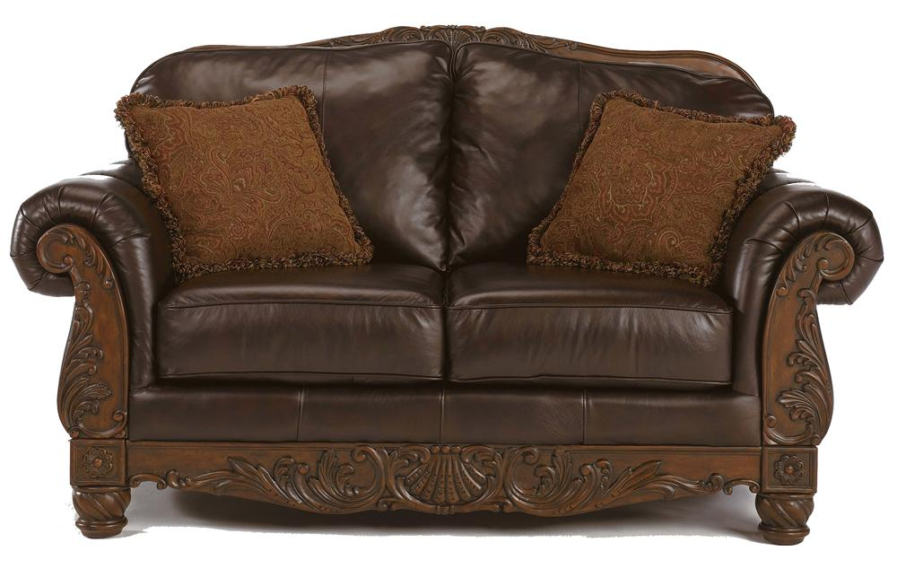 Millennium North Shore - Dark Brown Traditional Leather Love Seat - Item Number: 22603-35