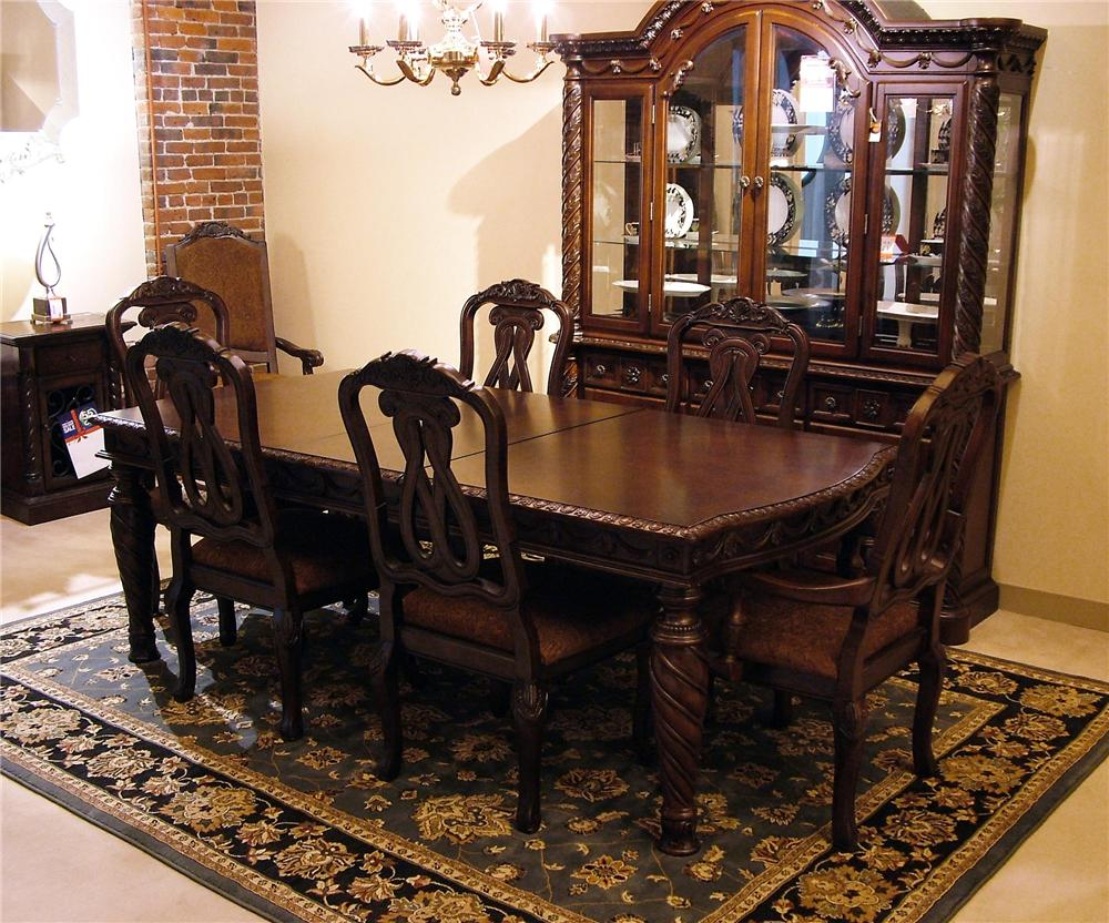 Old World Dining Table Chair Set Rotmans Dining Or
