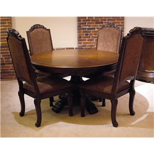 Old World 5pc Round Pedestal Table & Chair Set | Rotmans | Dining 5 ...