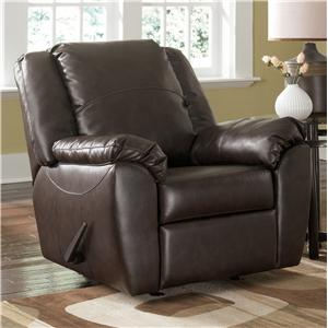 Sig Millennium by Ashley Furniture Franden DuraBlend - Cafe Upholstered Rocker Recliner