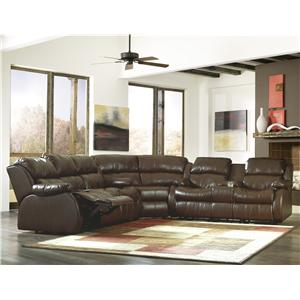 Sig Millennium by Ashley Furniture Mollifield DuraBlend® - Café Motion Sectional