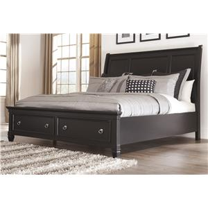 Millennium Greensburg King Sleigh Bed with Storage Footboard