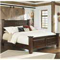 Millennium Hindell Park Queen Poster Bed w/ Bead Paneling - B695-50+71+96 - Bed Shown May Not Represent Size Indicated
