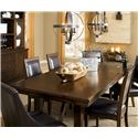 Millennium Holloway Mahogany Veneer Rustic Rectangular Dining Room Extension Table - D696-45