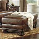 Signature Design by Ashley Hutcherson Traditional Ottoman - Item Number: 2110014