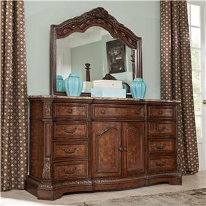 Millennium Ledelle Dresser & Bedroom Dresser Mirror