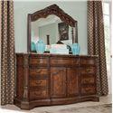 Millennium Ledelle Dresser & Bedroom Dresser Mirror - Item Number: B705-31+36